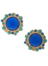 Deep Blue Jewel and Stone Earrings by Olivia Taylor Fashion Boutique | Olivia Taylor
