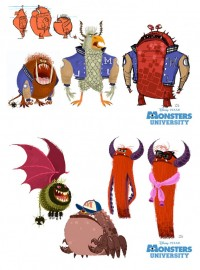 Personagens de Monsters University, por Chris Sasaki | THECAB - The Concept Art Blog