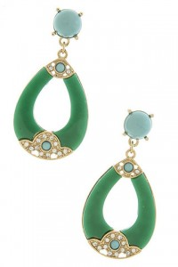 Emerald Turquoise Teardrop Earrings by Olivia Taylor Fashion Boutique | Olivia Taylor