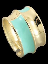 Seafoam Green Fluted Cuff Bracelet | Olivia Taylor