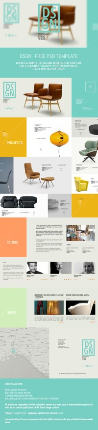 DSGN - Free .PSD Template on