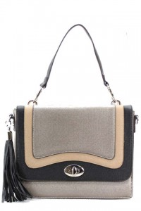 Grey Color Block Shoulder Bag by Olivia Taylor Fashion Boutique | Olivia Taylor