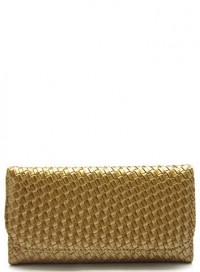 Gold Weave Wallet by Olivia Taylor Fashion Boutique | Olivia Taylor