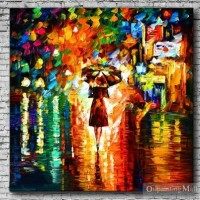 Reproduction Hand Painted Rain Princess By Leonid Afremov [b30122] - $60.00 : Oilpaintingmall.com