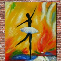 Oil Painting On Canvas Hand-painted Happy Ballet Dancer [b30172] - $40.00 : Oilpaintingmall.com