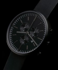 Uniform Wares - 302 Series Chrono Watch - Black - FreshnessMag.com