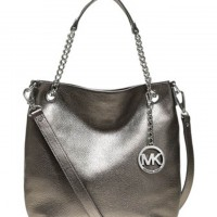 MICHAEL Michael Kors Bags Medium Jet Set Pebbled Shoulder Tote