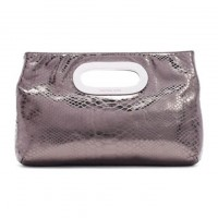 MICHAEL Michael Kors Bags Berkley Metallic Python-Embossed Clutch
