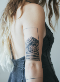 My little mountain tattoo is almost healed | Inspiration DE