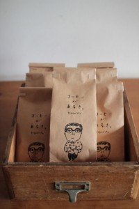 Coffee packaging for Coffee Sunlight, Tokyo. Illustration by Keiko Shibata. | Inspiration DE
