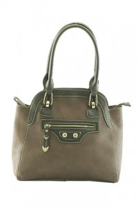 Brown Two-Tone Shoulder Bag by Olivia Taylor Fashion Boutique | Olivia Taylor