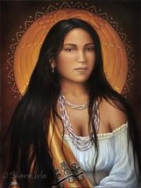 American Indian Women Paintings | Native American Keepsakes