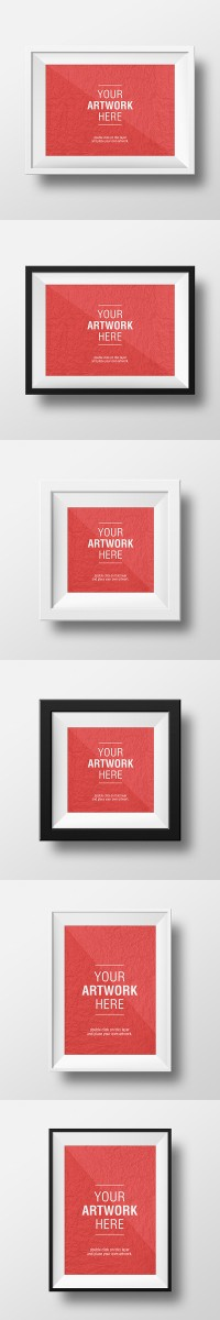Artwork Frame PSD Mockups - FreebiesXpress