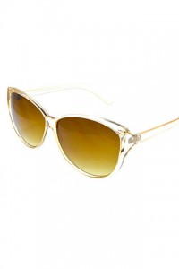 Clear & Brown Cat Eye Sunglasses by Olivia Taylor Fashion Boutique | Olivia Taylor
