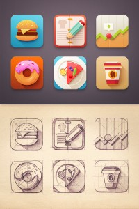 Flat Icon set by Mike | Inspiration DE