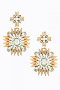 Peach Square Shourouk Earrings | Olivia Taylor