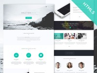 Halcyon Days - One Page HTML Template - FreebiesXpress