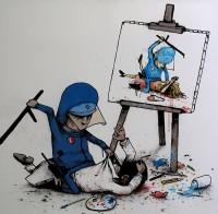 Artista de rua usa humor negro para criticar a cultura moderna | QGA