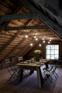 Wooden attic dining table and chairs | Murray Mitchell