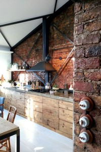 Exposed brick and wood kitchen interior | Murray Mitchell