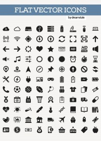 200+ Free Flat Vector Icons Pack | Icons | Graphic Design Junction