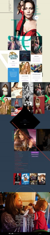JenniferLopez.com on Web Design Served