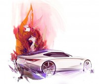 Exceptional blend of design and illustration. ~by Kimberly Wu - Vehicles Concepts | Socialdoe.com