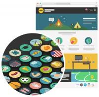 Freebie: Flat Icon Set (60 Icons, PNG, SVG, EPS, PSD, AI) | Smashing Magazine