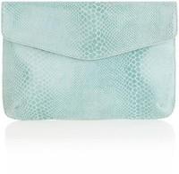 Snake Print Clutch Bag - Oasis - Polyvore