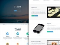 Flatfy - Flat minimal HTML template | Freebiesbug