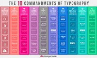The 10 Commandments of Typography [INFOGRAPHIC]   Downgraf