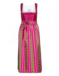 Baumwoll-Dirndl von Wenger in Pink / Grün.Die schönsten Kleider bei navabi bestellen