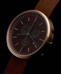 302 SERIES (PVD Rose Gold / Walnut Brown Leather) | Uniform Wares