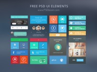 Free Modern UI Kit PSD Download   PSDboom