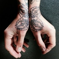 Coup de grace Hand tattoo on Inspirationde