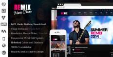 WordPress - Remix _ Music and Band Wordpress Theme   ThemeForest