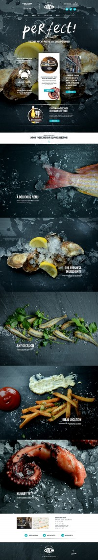 Website for Market Street Catch, a seafood restaurant in Toronto, Ontario. on Inspirationde