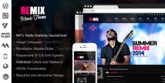 WordPress - Remix - Music/Band/Club/Party/Event WP Theme | ThemeForest