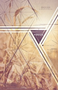 Focus Poster Design. A nice combination of photography/tone and geometric shape. Rob Loukotka of Fringe Focus. on Inspirationde
