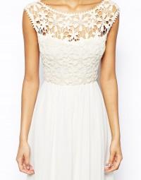 White Sleeveless Floral Crochet Lace Maxi Dress - Sheinside.com