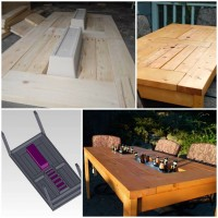 DIY Patio Table with Built-in Coolers