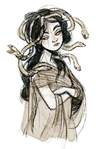 Young Medusa by sparrowbirdd