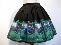 The Hobbit Book Cover Skirt Fully Lined Including by Frockasaurus