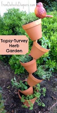 DIY Topsy Turvy Herb Garden