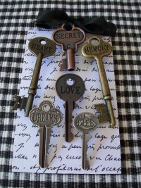 ENGRAVED WORD KEYS6 KeY Magnets or by shabbymcfabby on Etsy
