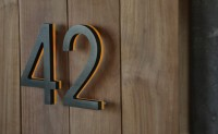 "Illuminated Bronze House Numbers 8"" - Outdoor Backlit Signs - modern - House Numbers - Los Angeles - Surrounding - Modern Lighting & Furniture"