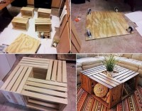 DIY Wood Boxes Table