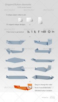 Web Elements - Origami Elements | GraphicRiver