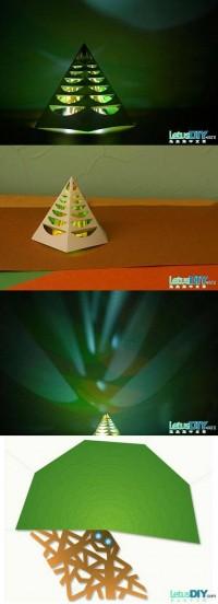 DIY Glowing Christmas Tree