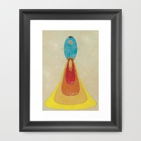 Rocket Framed Art Print by metron | Society6